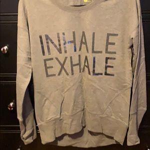 Grey inhale exhale sweatshirt